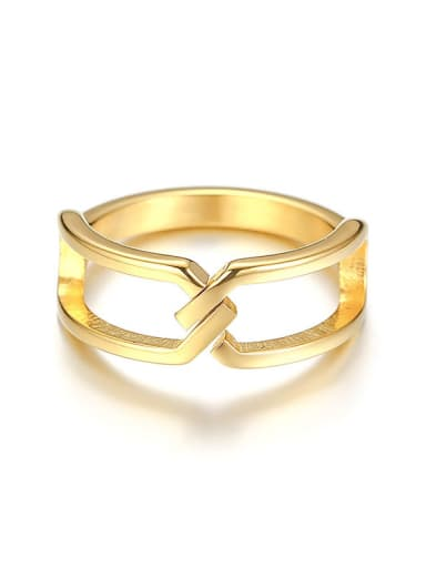Stainless Steel Minimalist Style Geometric Rings