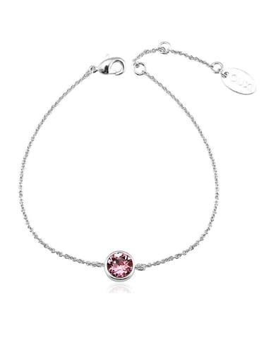 Women 18K White Gold Crystal Bracelet