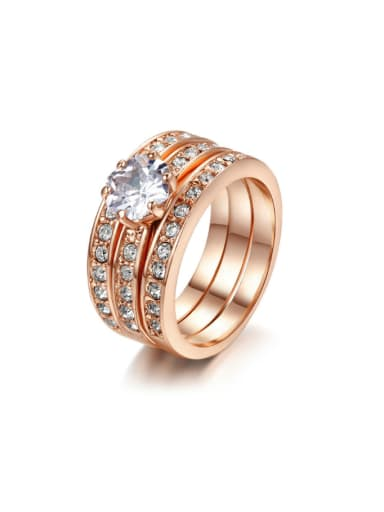 Three Layer Hot Selling Copper Ring with Zircons