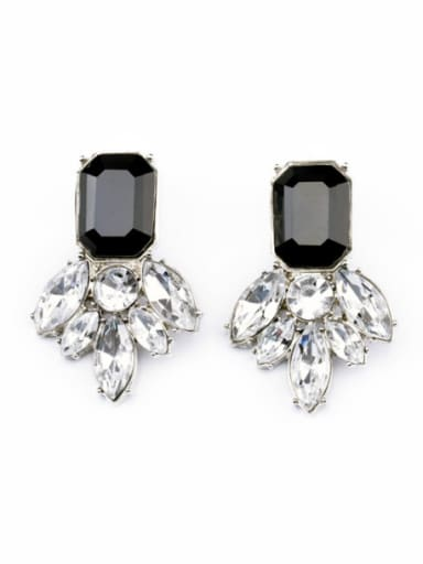 Marquise Leaves-Shaped Alloy Stud Cluster earring