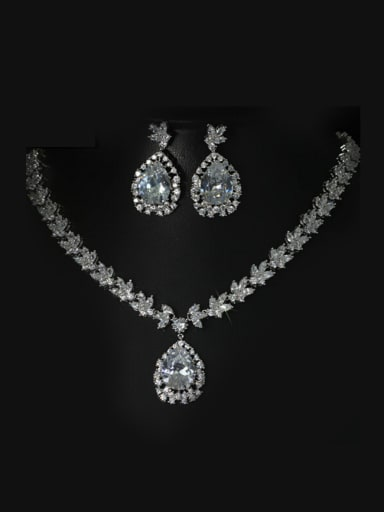 Luxury Water Drop Shaped Wedding Jewelry Set