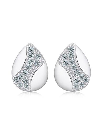 Water Drop Lover Fashion Stud Earrings