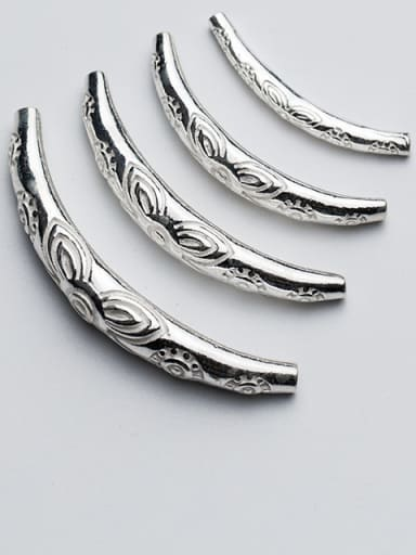 925 Sterling Silver With Silver Plated Silver Pattern Bent Pipe