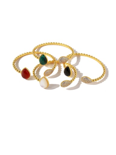 Copper With Gold Plated Simplistic Heart Free Size  Bangles