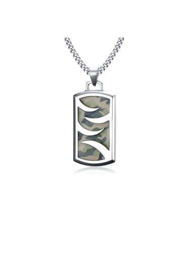 Stainless Steel With Platinum Plated Simplistic Geometric Necklaces