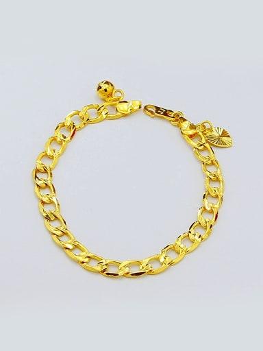 Women High Quality 24K Gold Plated Heart Shaped Bracelet