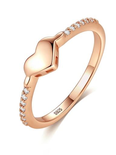 925 Sterling Silver Simplistic Heart Rings