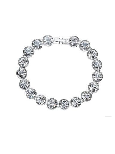 Round Shaped Swarovski Crystals Bracelet