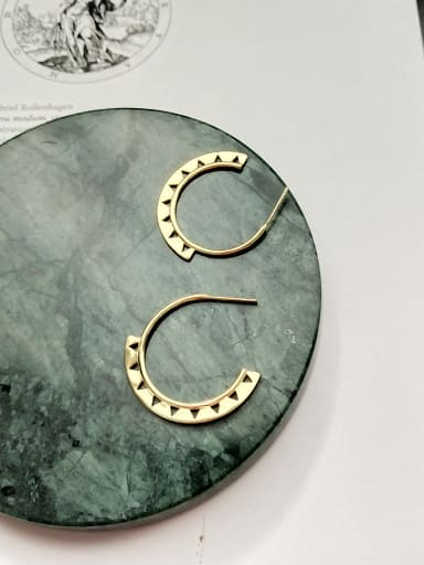 Sterling Silver gold-plated circle Earring