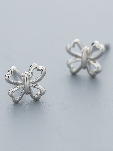 Simply 925 Silver Bowknot Shaped cuff earring