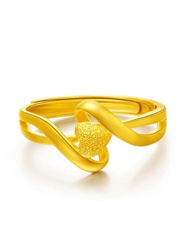 24K Gold Plated Heart Shaped Ring