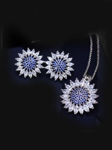 Round Solar Wedding Accessories Jewelry Set