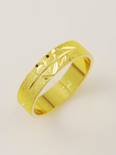 All-match 24K Gold Plated Heart Pattern Copper Ring