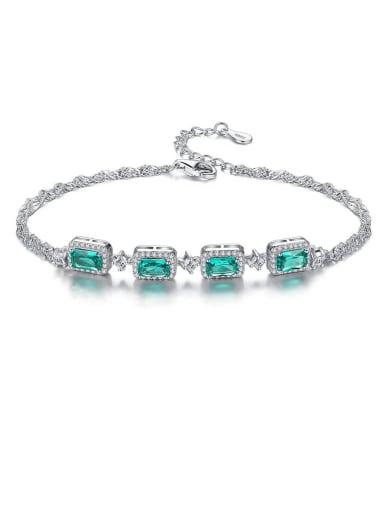 925 Sterling Silver With  Cubic Zirconia  Luxury Geometric Bracelets