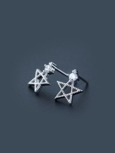 S925 Silver Korea Fashion Zircon Star Stud cuff earring