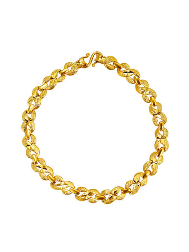 Copper Alloy 23K Gold Plated Classical Stamp Bracelet