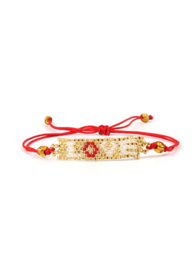 Handmade Woven Glass Beads Fashion Bracelet