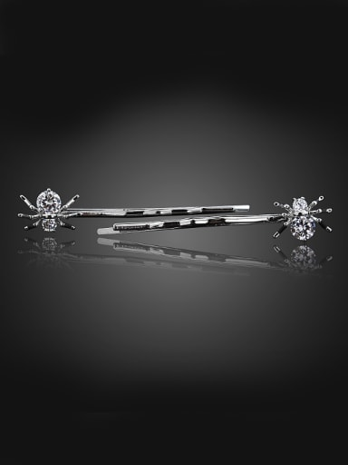 Simple Cubic Zircon-studded Little Spider Copper Hairpin
