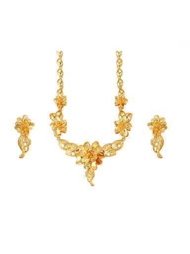 Ethnic style Flowery Two Piece Jewelry Set