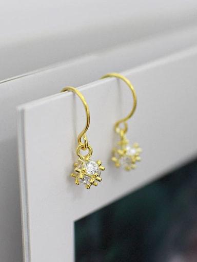 Fashion Cubic Zircon-studded little Bead Silver Earrings