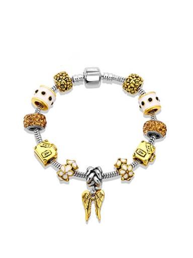 High-grade Yellow Wing Shaped Enamel Bracelet