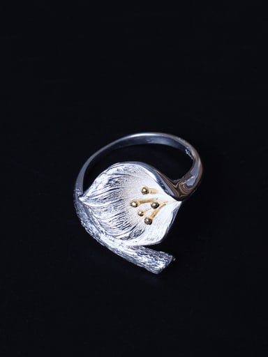 Creative Lotus Women's Opening Ring