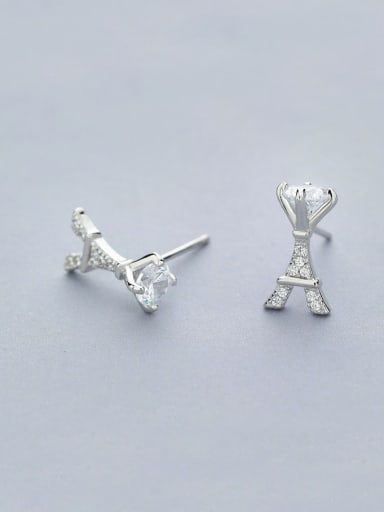 Exquisite Tower Shaped Zircon Stud Earrings