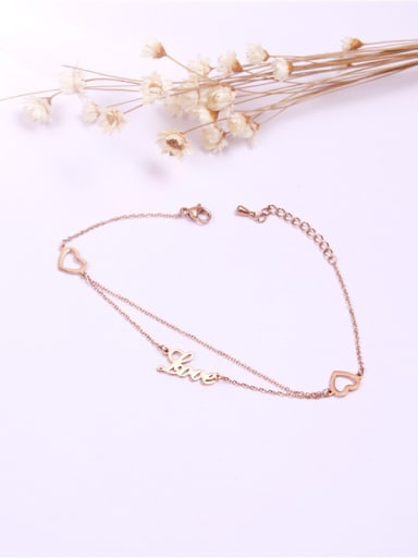 Korean Style Double Chain Creative Anklet