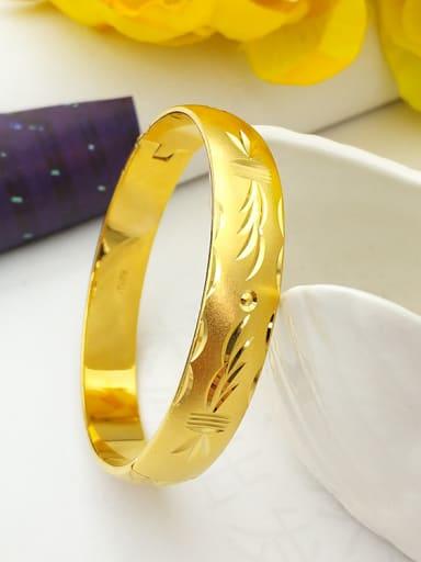 Women Gold Plated Geometric Bangle