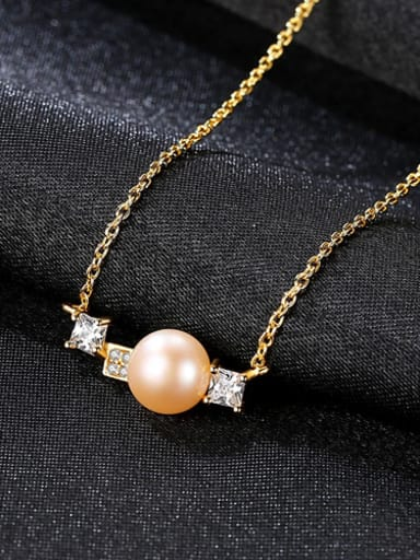 Sterling silver 7-7.5mm natural freshwater pearl necklace