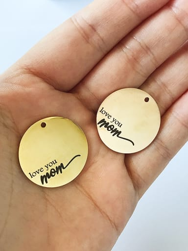 Stainless Steel With Gold Plated Classic Round Charms