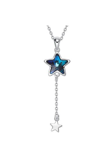 Fashion Blue Star Swarovski Crystal Copper Pendant