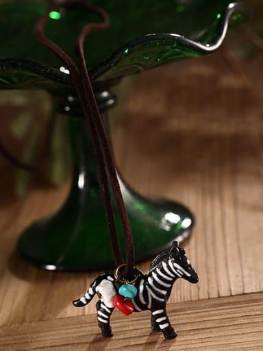 Women Delicate Zebra Shaped Necklace