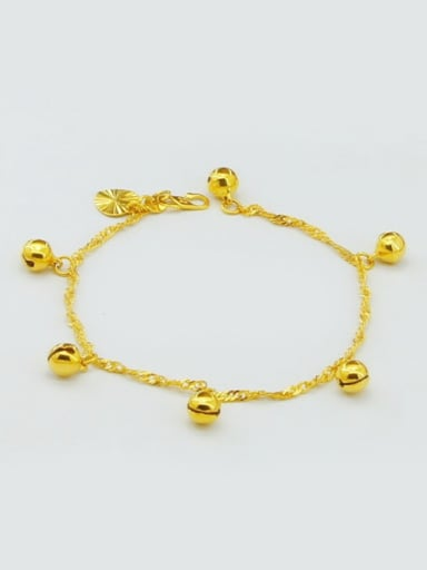 High Quality Bell Shaped Gold Plated Children Bracelet