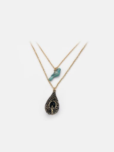 Double Layer Hollow Bird's nest Necklace