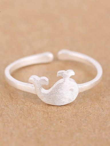 Tiny Dolphin Matte Opening Midi Ring