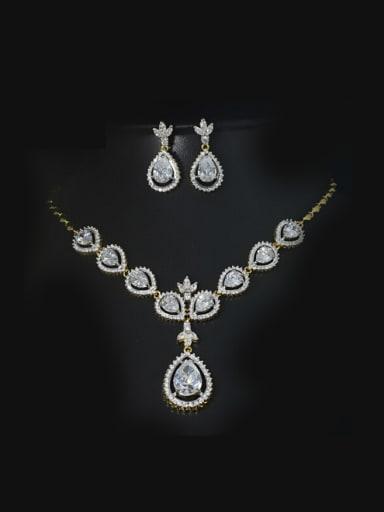 High Quality Zircon Wedding Jewelry Set