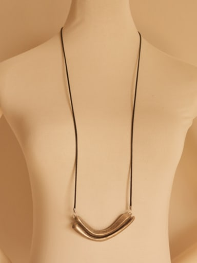 Women Antique Silver Plated Necklace