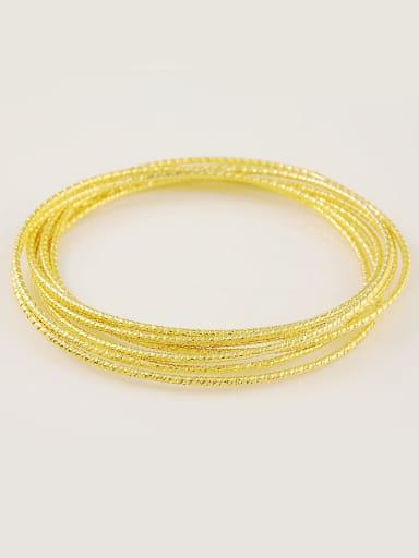 Fashion Multi-Layer Design Gold Plated Copper Bangle