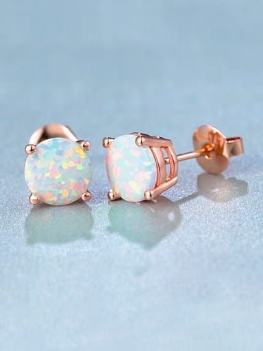 6MM Opal Stone stud Earring