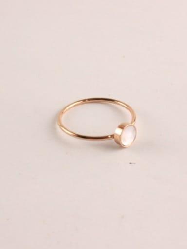 Rose Gold Plated Titanium Ring