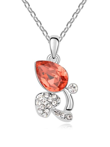 Austria was using SWAROVSKI Elements Crystal Necklace Pendant Chain clavicle rose love