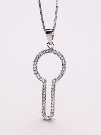 Exquisite Key Shaped Zircon Pendant