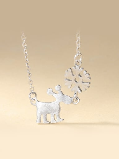 Deer And Snowflake Necklace
