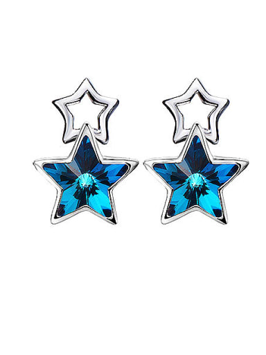 S925 Silver Star-shaped stud Earring