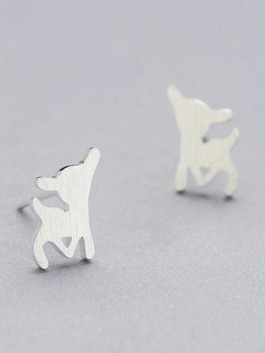 Lovely Deer Shaped Stud Earrings