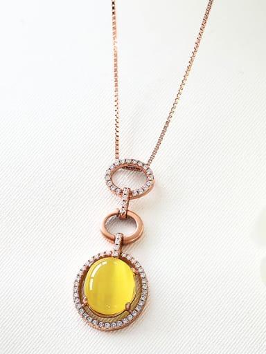 Rose Gold Swarovski Zircon Pendant