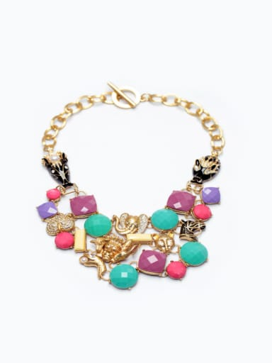 Exaggerate Colorful Women Sweater Necklace