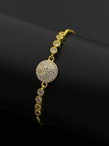 Round Zircons Stretch Bracelet