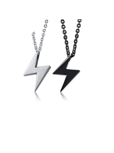 Stainless Steel With SmoothSimplistic Geometric Necklaces